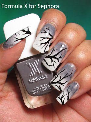 NOTD: Winter Tree Branches + Tutorial - My Simple Little Pleasures