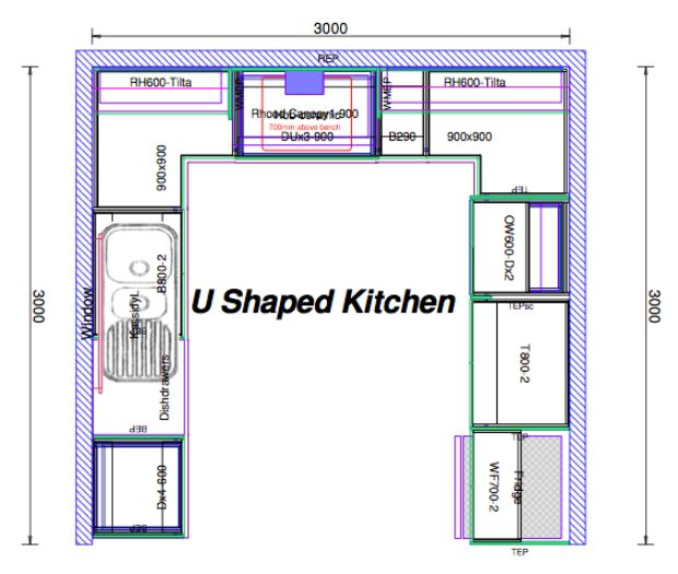 U shaped kitchen layout ideas kitchen design ideas for Kitchen design and layout ideas