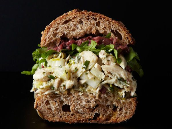 Pickled fennel, capers, and olives add a bright bite to this tuna sandwich from Joanne Chang of Flour Bakery + Café.