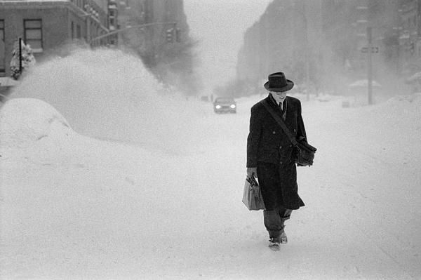 Blizzard on fifth avenue film inspiration35mm filmpark avenueblack white photographyblack