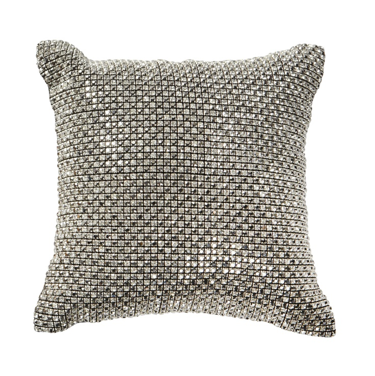 keekï - add some bling to your space with a swarovski cushion - black/silver