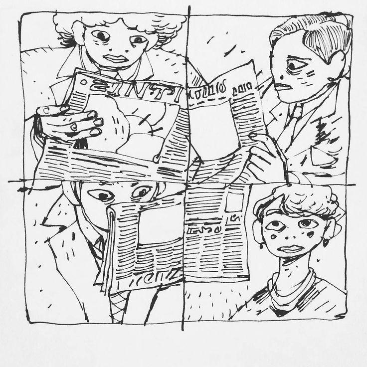 Inktober no15 - newspapers (and people Reading them) #inktober #inktober2016 #inked #rotring #newspaper #reading #people  ___ #illustration #art #artist #instaart #dailyart #artoftheday #doodleartist #pen #pencil #drawing #drawings #sketch #scribble #picoftheday #sketchbook #doodle #kunst #dessin #dibujo #newartwork #instadaily