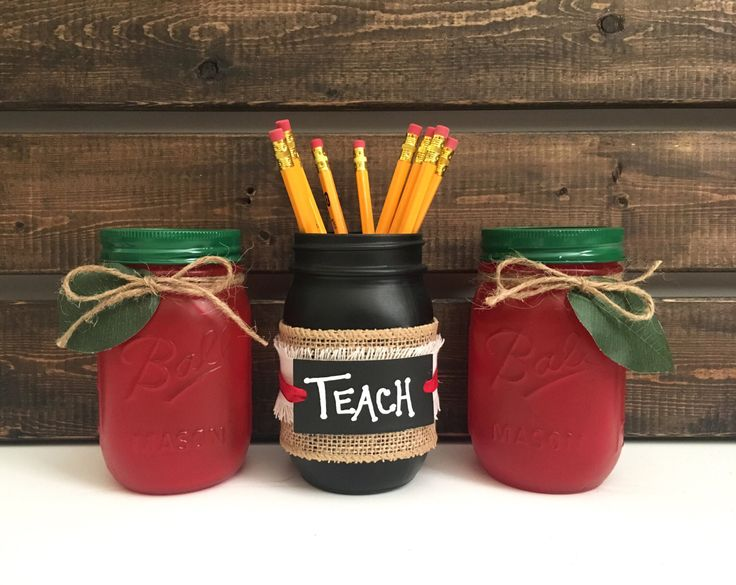 Classroom Jar Ideas ~ Teacher mason jar set classroom jars