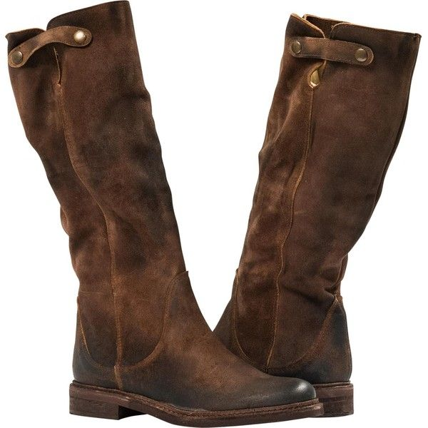 Coffee Brown Suede Upper. Leather lining with cushioning insoles. Flat Comfortable Soles. Snap button details. Classic knee high boot style. Perfect for everyd…