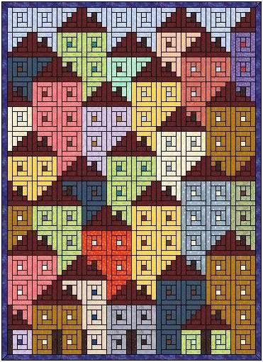 由小木屋組合成房屋圖形 Houses on Hill pin from blog.xuite.net/grace_workingroom/twblog