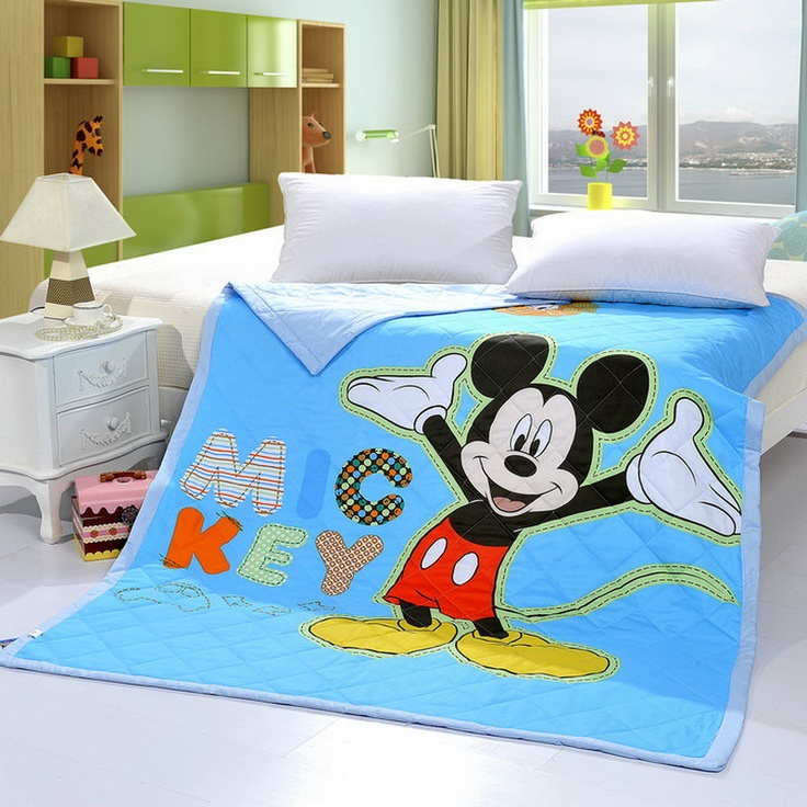 Mickey Mouse Style5 Blue Disney Quilts