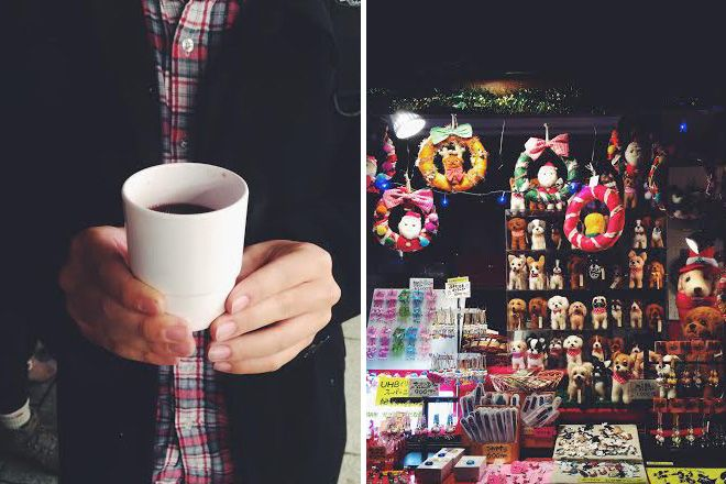 先週は大通りのミュンヘンクリスマス市に行ってきました。このイベントではクリスマスの飾りつけや雑貨、プレゼント、手芸品はもちろん、日本やドイツの食べ物や飲み物、スィーツのたくさんのお店が立ち並んでいます