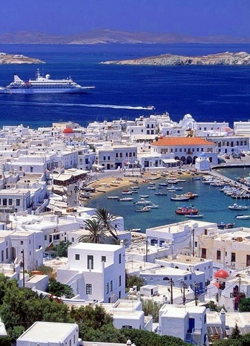Mykonos Greece - fun!!! probably the only island where we stayed up past 11pm. Haha.