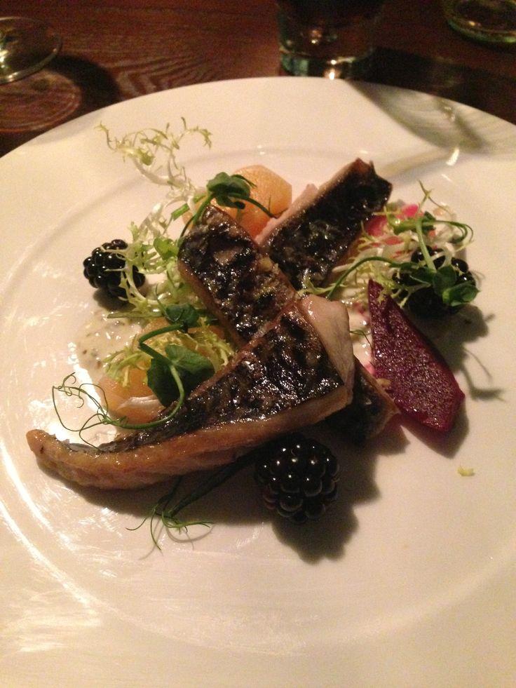 Mackerel Starter with Pickled Beetroot, Green Peppercorn Aioli, Blackberry and Horseradish @ Brasserie Hudson Quay, Middlesbrough