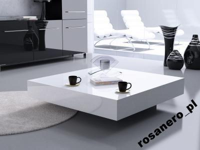 Nowoczesny stolik kawowy kwadratowy 60x60 połysk