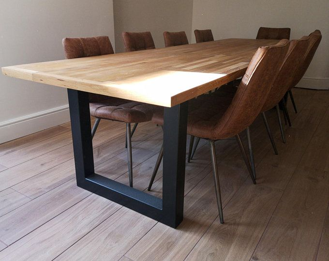 Super Heavy Duty Design Modern Table Base 2 Bars With Square Rectangle In The Middle Set Of 2 Legs And 3 Cross