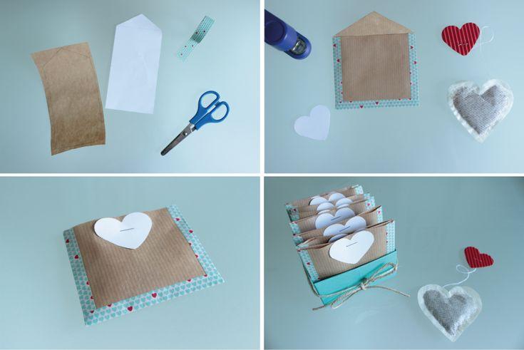 DIY Verpackung für Teebeutel. Anleitung auf yeah handmade