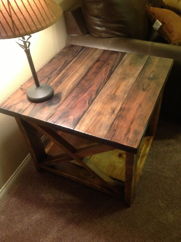 Best 25 rustic end tables ideas on pinterest wood end for Diy coffee and end tables