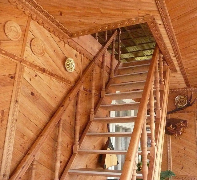 Wooden Stair in a house - Carpathian Mountains, western Ukraine  #Ukraine #Ukrainian #Carpathians