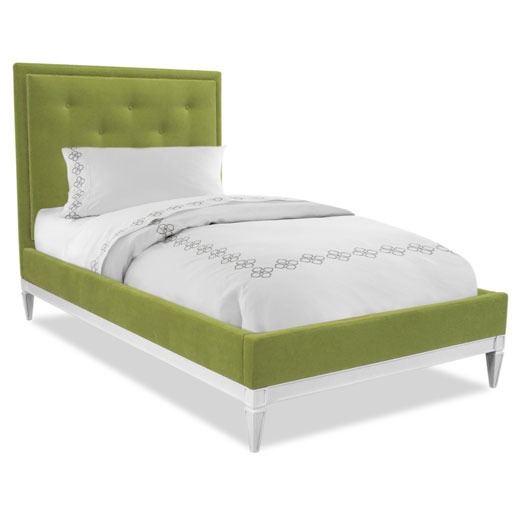 Upholstered Green Twin Bed (the site is one of those where you have to sign up just to see anything, but i still like the look of this & want to try & make my own.)