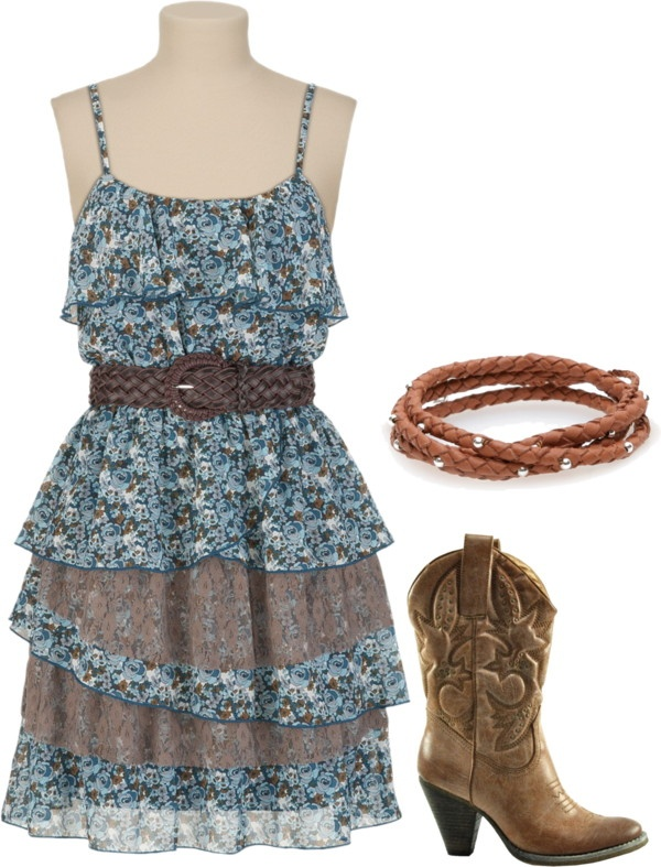 """Country Outfit"" by reegied on Polyvore. Cute on s some of you young girls! Wedding in June?"