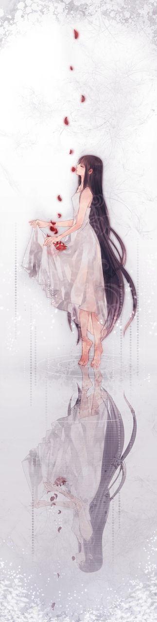 Satsuki Baskerville. love me. please, love me. donne moi de la joie, de l'espoir, de la tendresse, du calme, de la sérénité, de la sécurité. ouvre tes bras comme des pétales. accueille moi en ton cœur. Et ne me lâche plus. Plus