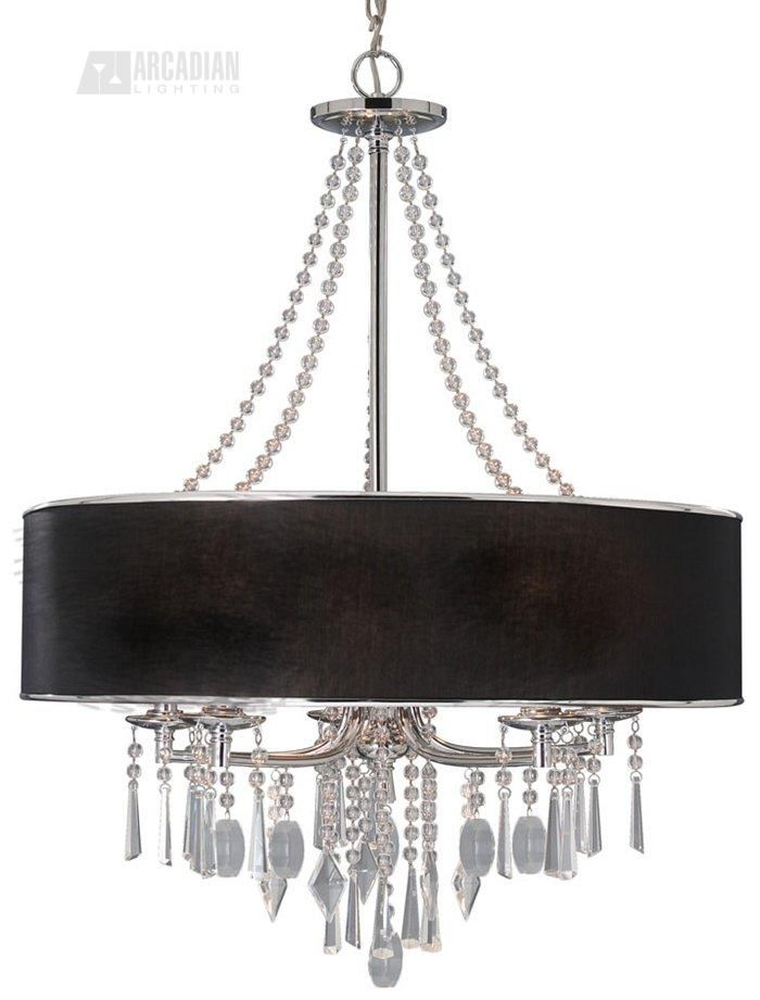 Echelon chandelier finish polished chrome features clean and elegant tuxedo shade chain length wire length glass dimensions h x w backplate