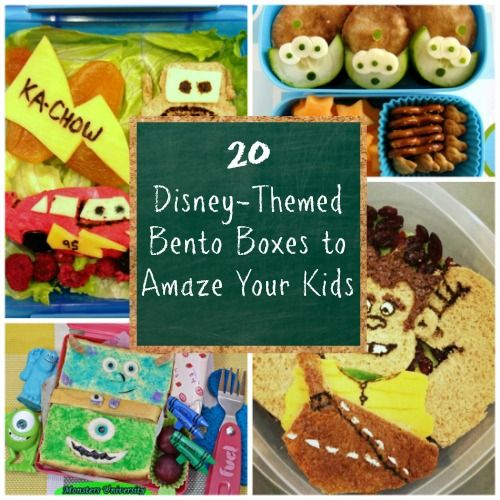 20 Disney-Themed Bento Boxes to Amaze Your Kids.  Check out some of my lunches which I am honored to have included in here!