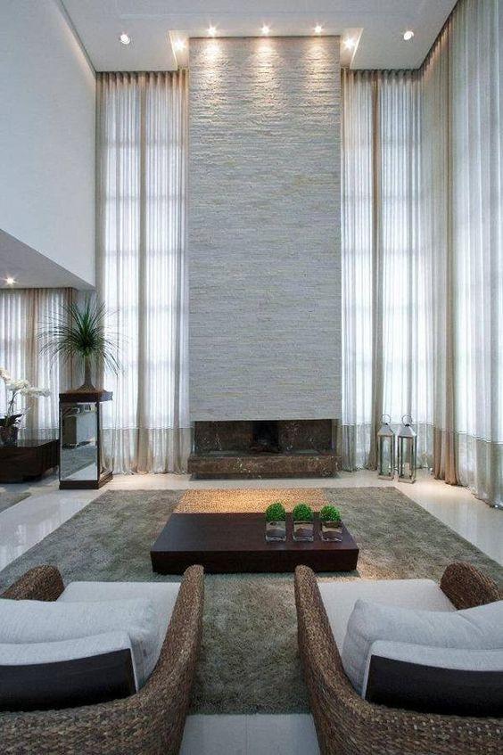 lustres e luminárias para sala de estar pe direito duplo - Pesquisa Google: