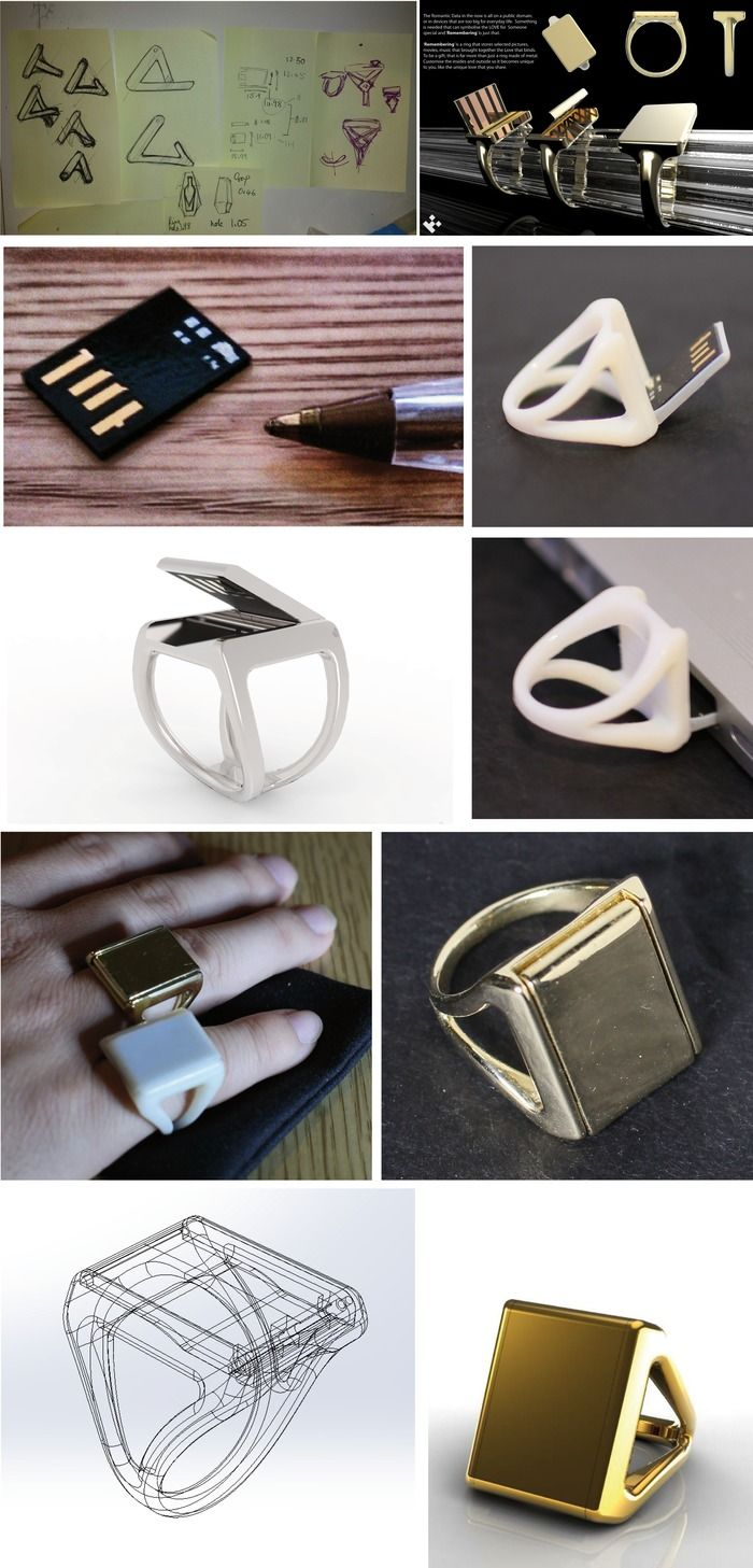 UU-U Memory Ring: A Flash Drive Designed to be Worn by UU-U — Kickstarter