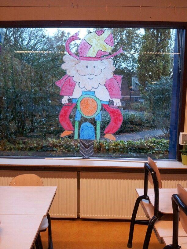 Raamschildering Sinterklaas Raam Ideeen Pinterest