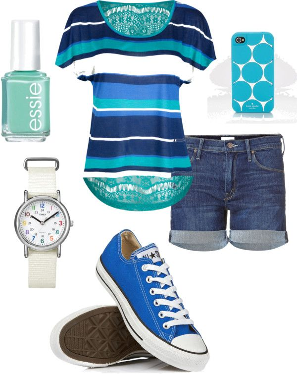 This is a cute summer outfit