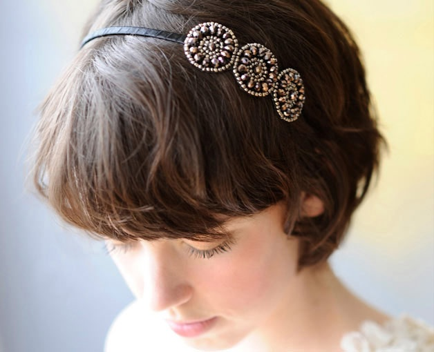 Just bought this to wear at the office. Stylish but mature enough for someone 40+! Triple Circles Headband - Poppyhearts | handmade headbands