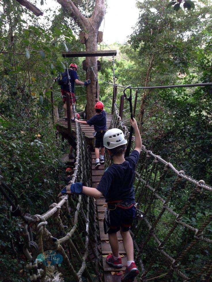 Ziplining Puerto Rico-Kids Are A Trip