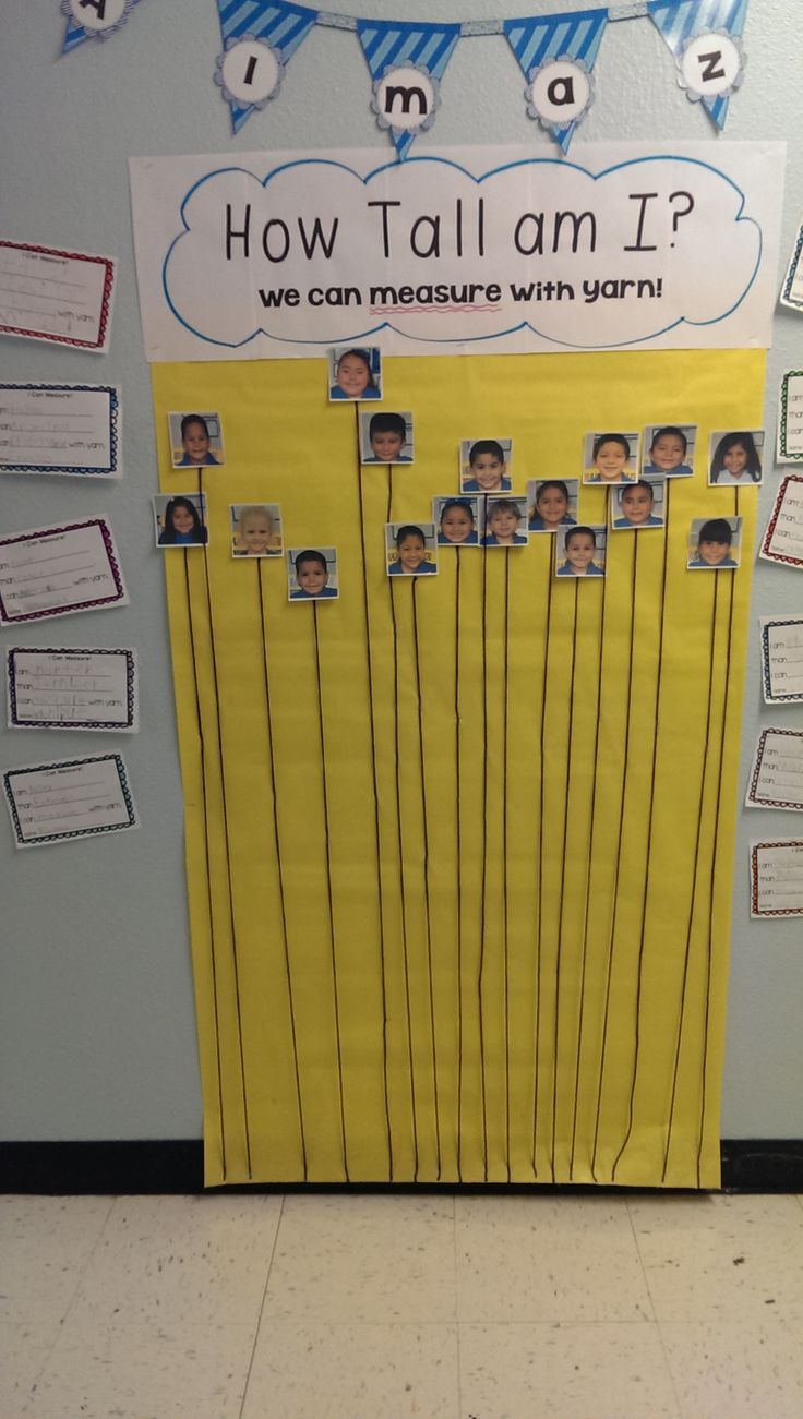 Cute idea for measurement and graphing of how tall students are