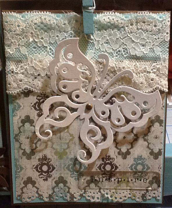 Inspire with lace and butterfly