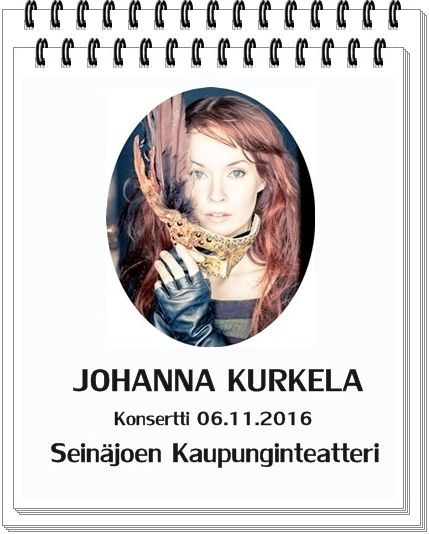 A new tour date has been added to Johanna's Ingrid Tour 2016. Source: Seinäjoen Kaupunginteatteri