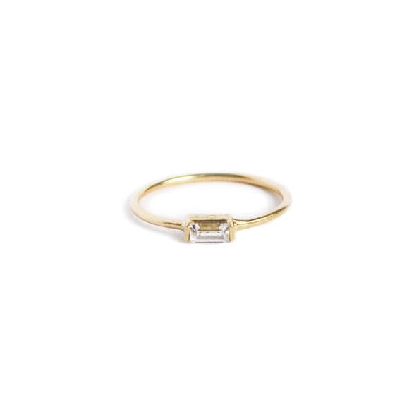 A simple ring made with just enough sparkle.   34 Irresistibly Gorgeous Engagement Rings Under $500