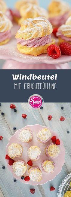 Leckere Windbeutel mit einer fruchtigen Füllung! Super Dessert!