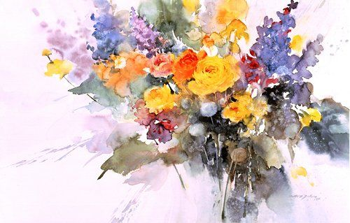 Springtime - watercolor painting by Morten E. Solberg ...