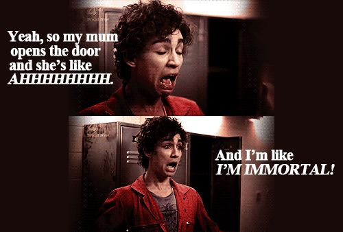 """Nathan Young, """"Misfits."""" This show was awesome! I need to find where I can watch it..lol"""