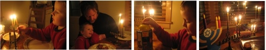 Chanukah Blessings, Lighting the Chanukiah (Chanukah Menorah)