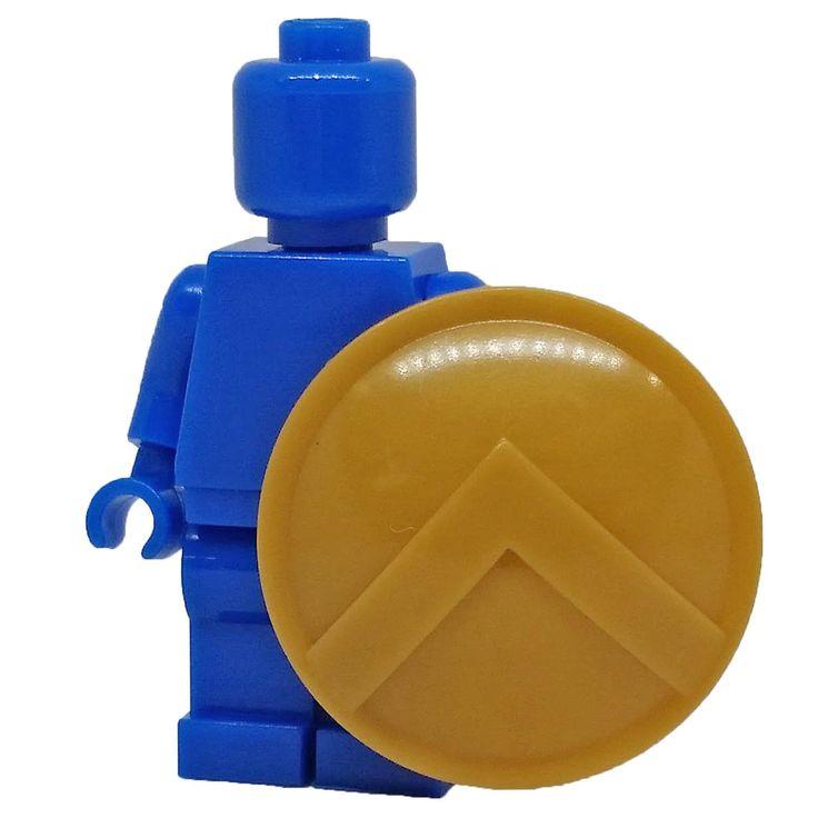 Brick Forces Minifigure Gold Spartan Shield