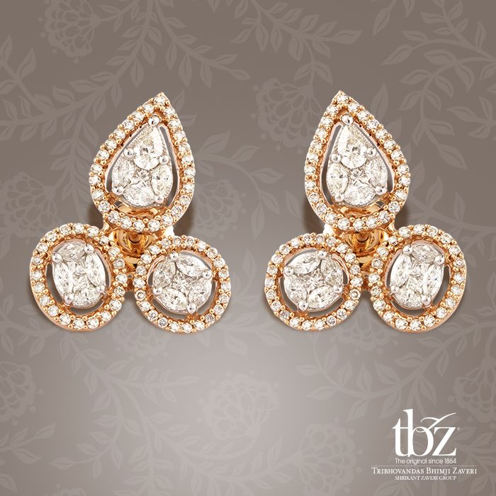 Rich solitaires, bold geometric shapes and over-the-top embellishment makes this pair of stud earrings a clear winner.
