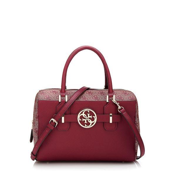 Guess Katlin Box Satchel With 4g Logo Bag Hwvg5069060 30x20x14 Cm