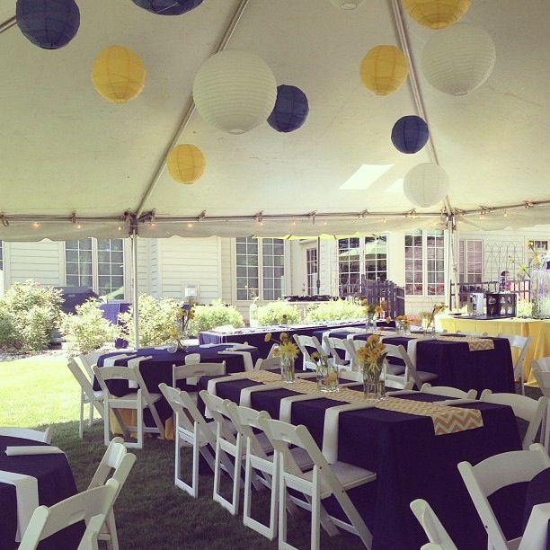 Lanterns jl graduation pinterest tablecloths eid for Outdoor decorating ideas for graduation party