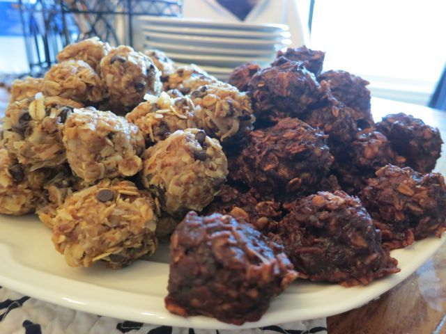 Gluten-free treats - Chocolate Chip Cookie Balls and Skinny Monkey Cookies from comfyinthekitchen.com