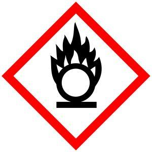 Comburente - Se consideran comburentes las sustancias y preparados que, en contacto con otras sustancias, en especial con sustancias inflamables, producen una reacción fuertemente exotérmica, es decir, con liberación de energía. Los comburentes, junto a los combustibles, la energía de activación y la reacción en cadena, forman el tetraedro del fuego.