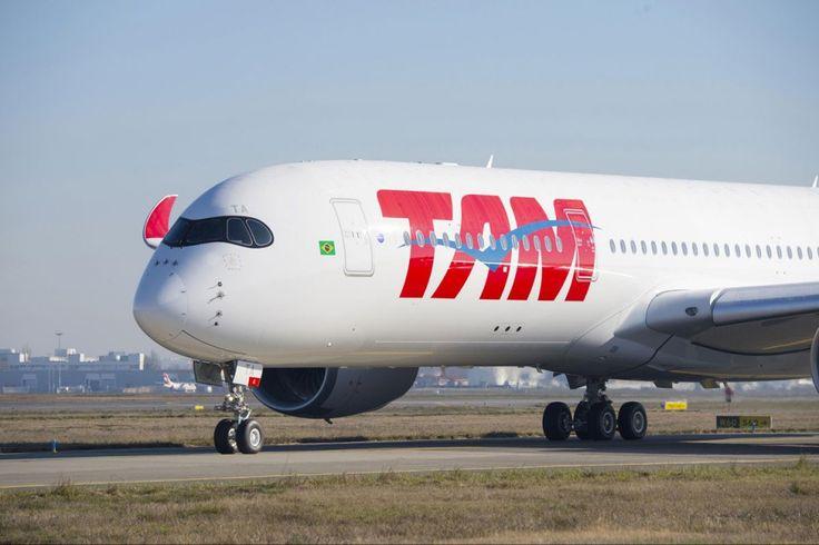 A Tam recebeu recentemente seu primeiro Airbus A350
