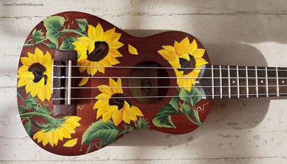 YOUR Soprano Ukulele Handpainted with Sunflowers Ukulele not