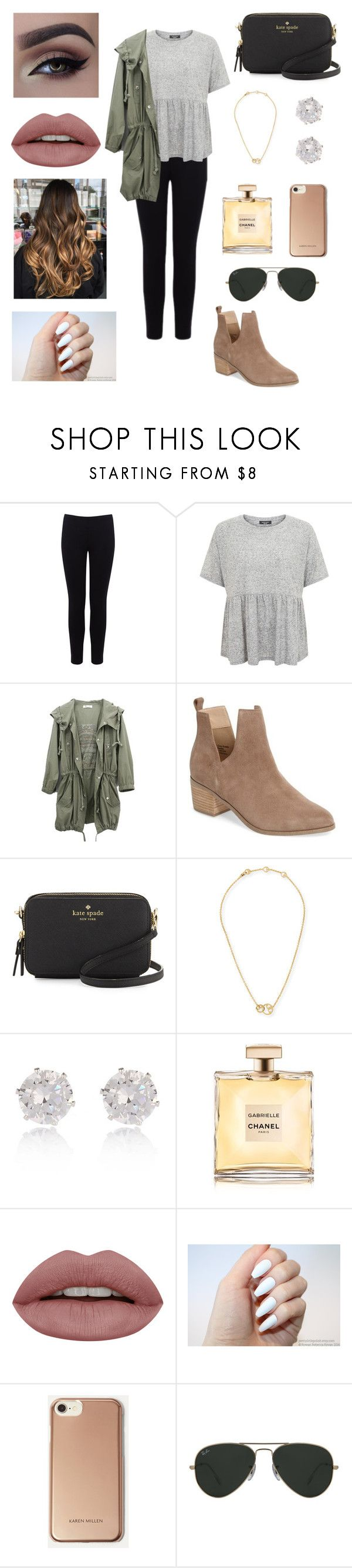 """3 day weekend this weekend !!"" by ashleymurphyyyy ❤ liked on Polyvore featuring Warehouse, Sole Society, Kate Spade, Tory Burch, River Island, Karen Millen and Ray-Ban"
