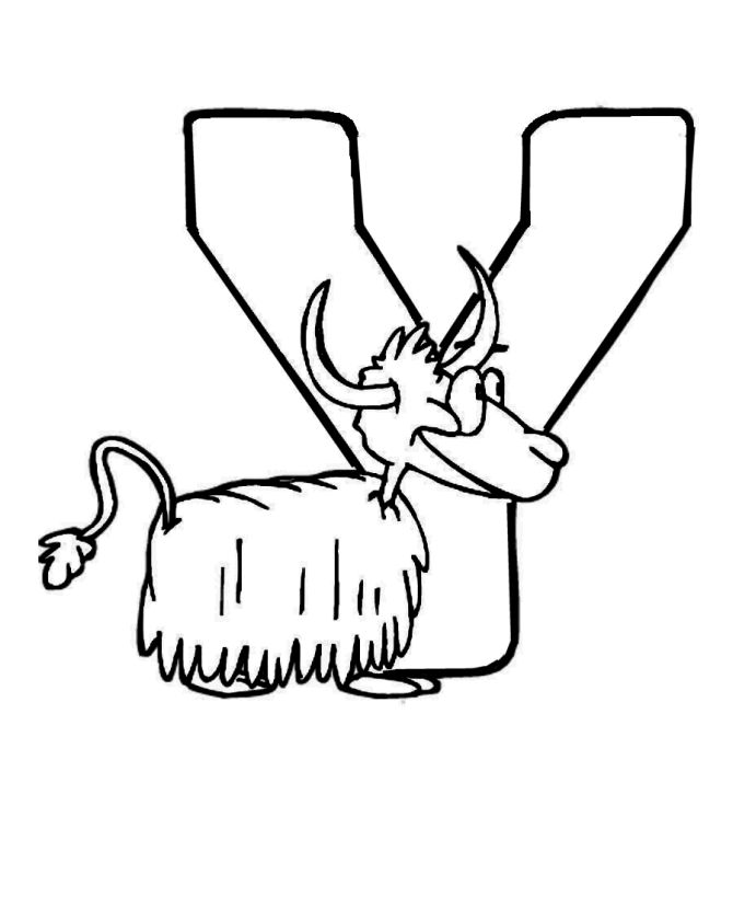 Cute Alphabet Coloring Pages : Best yaks images on pinterest animal drawings art