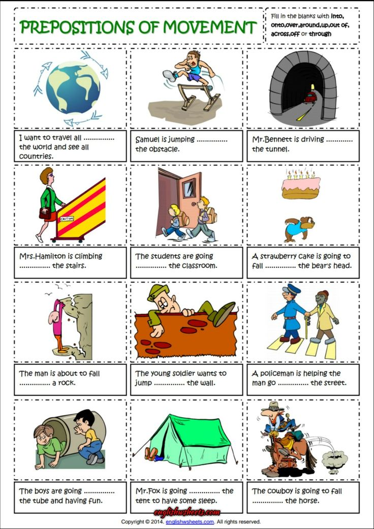 Preposition In Learn In Marathi All Complate: Prepositions Of Movement English Grammar Worksheet
