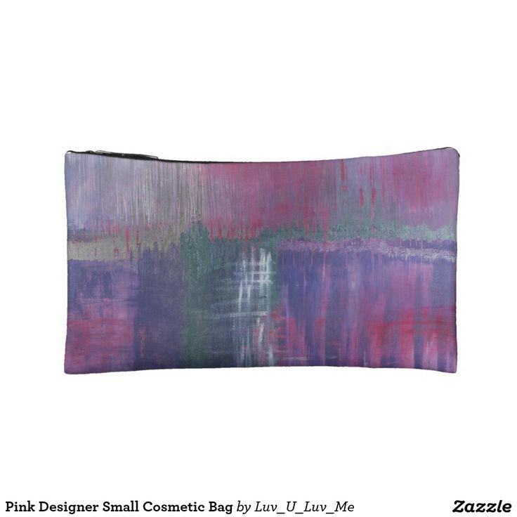Pink Designer Small Cosmetic Bag