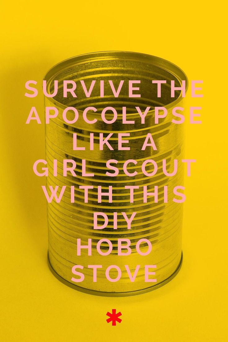 A standard of survival training for Boy and Girl Scouts since I was a Tenderfoot, hobo stoves use recycled cans to make an easy, efficient, and portable cooking station for use when camping, during power outages, or when you need to grab a quick bite before throngs of zombies descend to eat your brains
